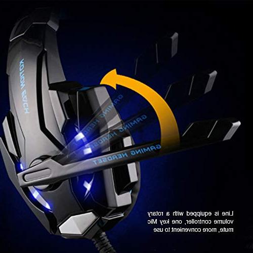 KOTION EACH G9000 Headset with Mic LED Light for Phones