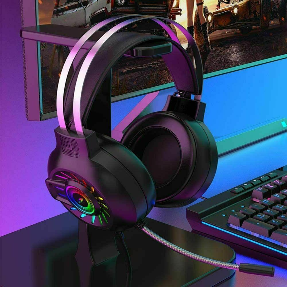 Gaming Headset Wired RGB Headphone for