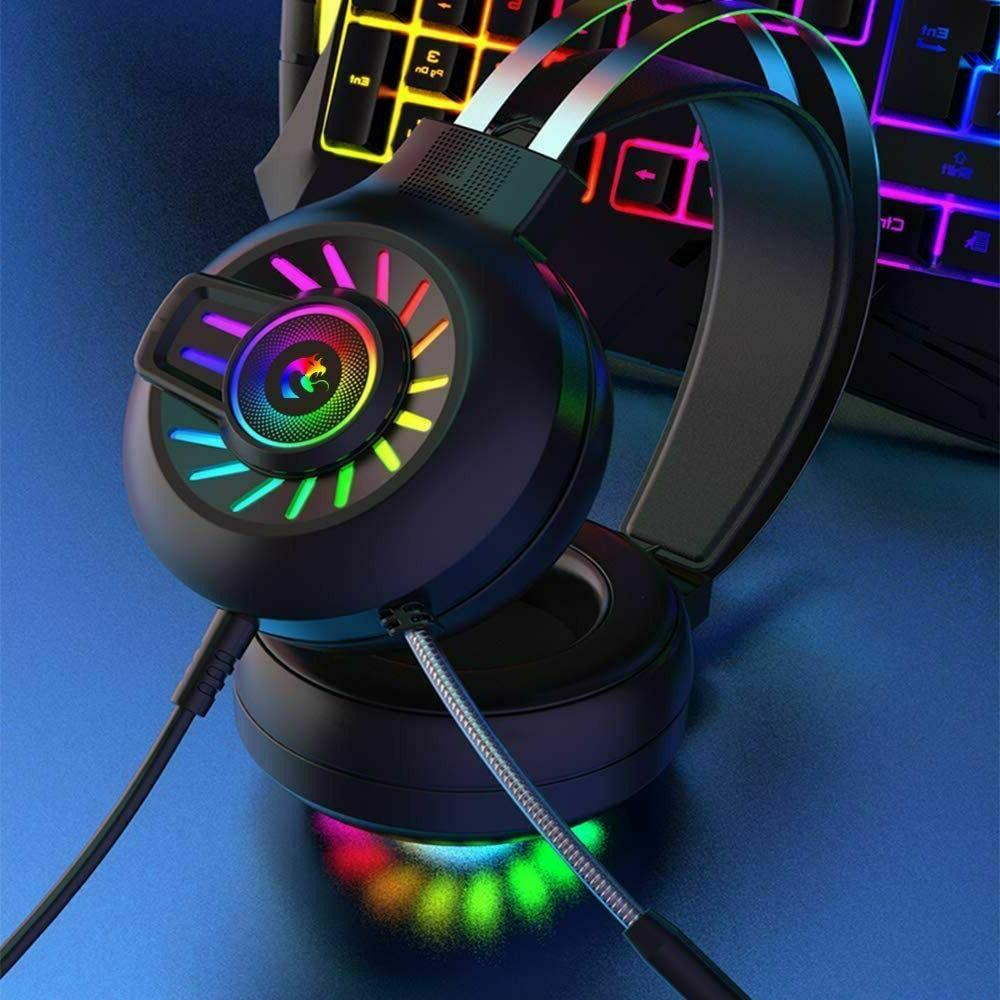 Gaming Headset Wired RGB Headphone for PS4/ one/Mac/PC