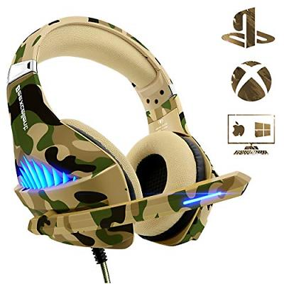 Gaming Headset for PS4 Xbox One PC, Beexcellent Deep Bass PS