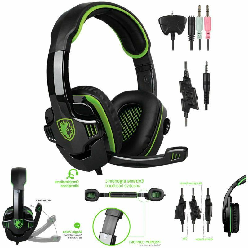 SADES Gaming Headset With PS4
