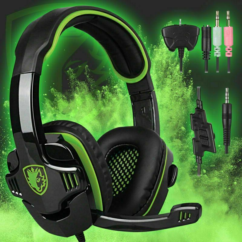gaming headset headphone with 3 5mm microphone