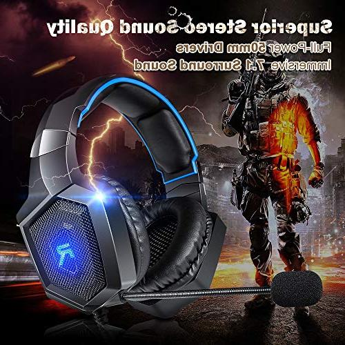 RUNMUS Stereo for Xbox Nintendo Headphones PS4 Headset One Headset Sound, Noise Microphone