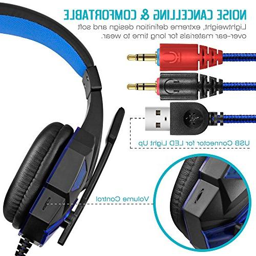 Gaming Headset Mic and and on, DLAND 3.5mm Gaming Volume Control.
