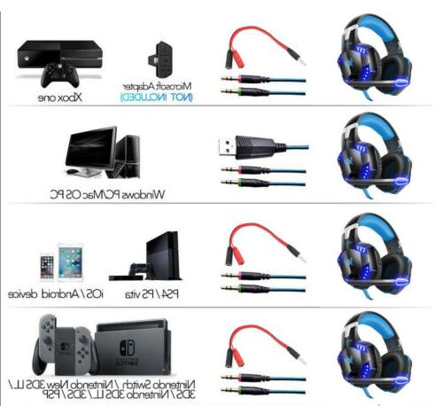 Gaming Headset Headphone Wired Switch