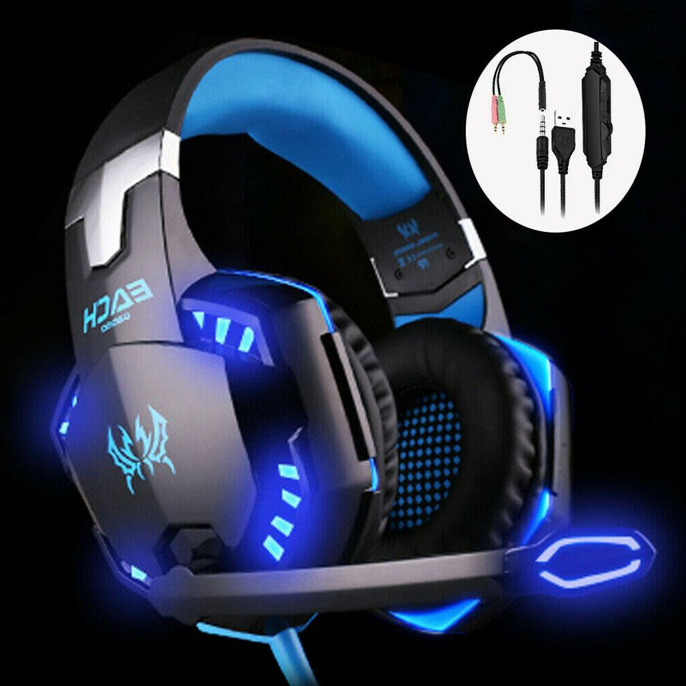 gaming headset mic stereo headphone 3 5mm