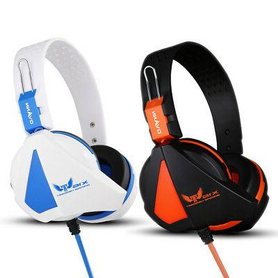gaming headset over the head headphones headband