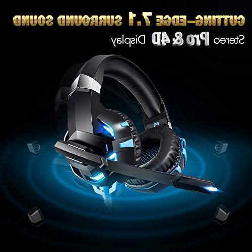 RUNMUS Headset, Cutting-Edge Sound Stereo Pro Mic, Soft Memory Earmuff, Compatible One, PC, Mac, Switch