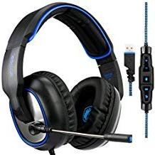 Gaming Headset Sades R7 Virtual 7.1 Channel Surround USB Wir