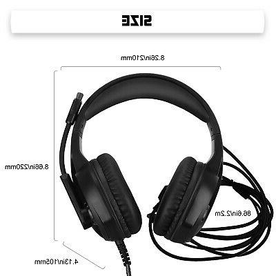LED Ergonomic Gaming Headset Noise for PS4 One PC
