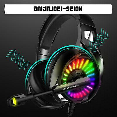 LED Gaming Headset for PS4 Xbox PC