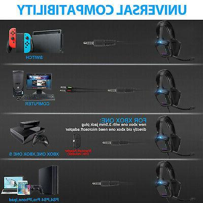 Gaming Sound Mic Headphones 3.5mm For Laptop