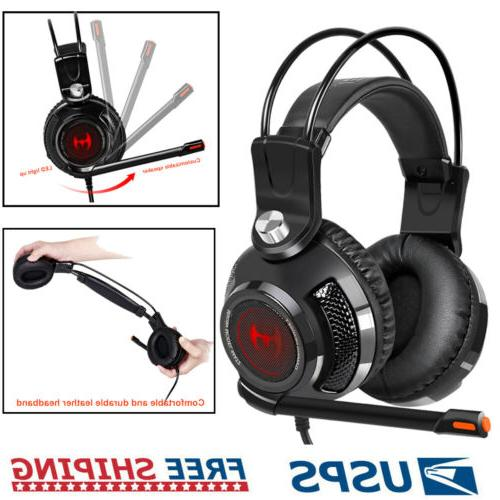 gaming headset stereo bass headphones 3 5mm