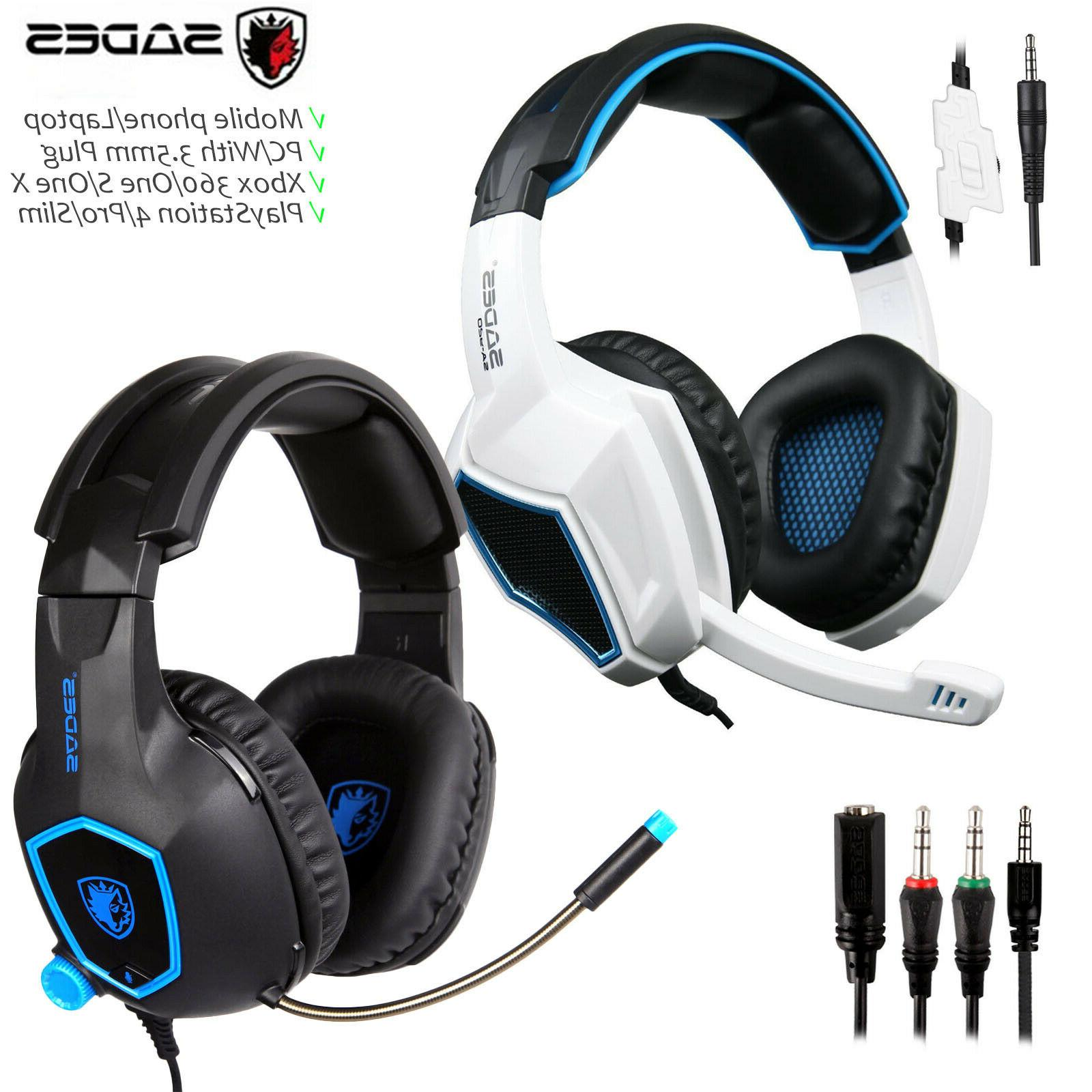 gaming headset stereo headphone 3 5mm wired