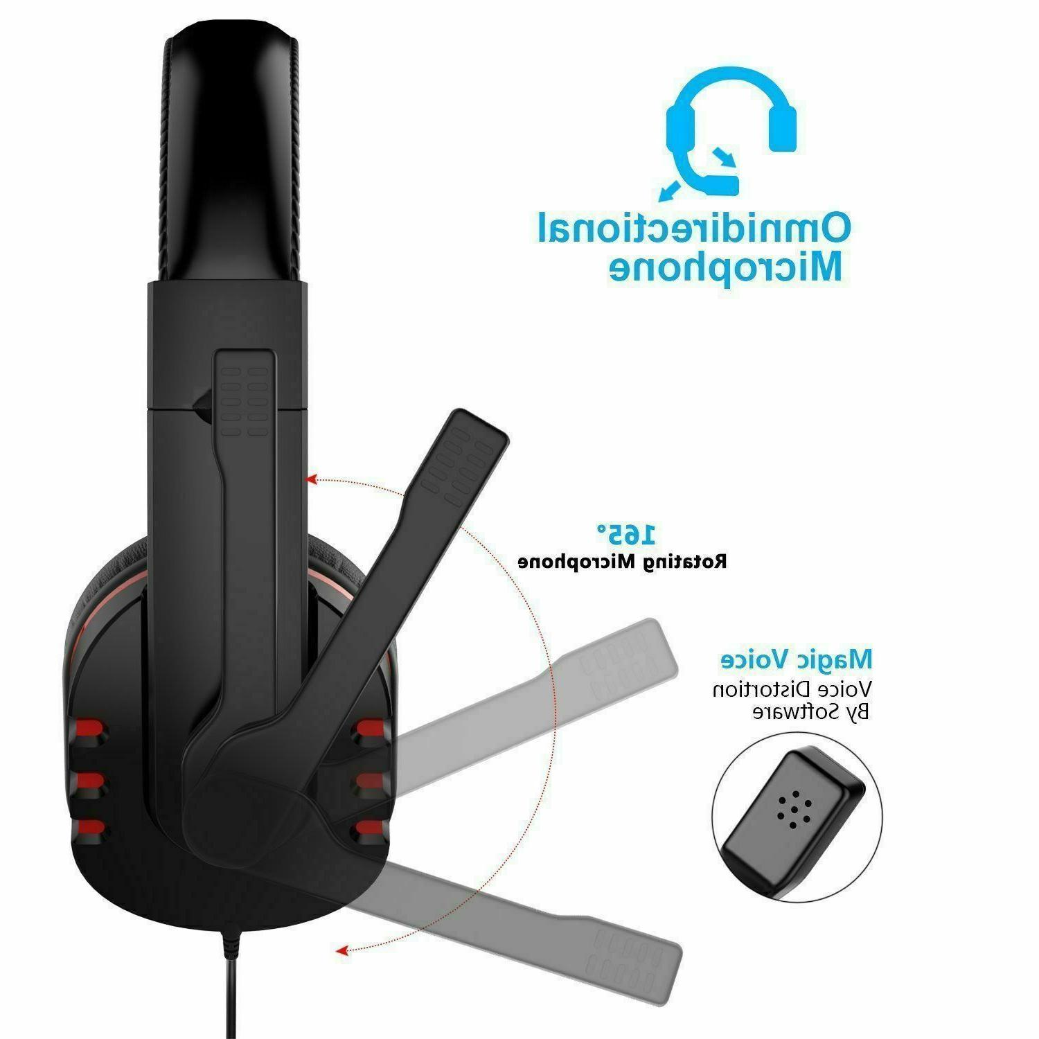 Gaming Headset Mic Headphone For One