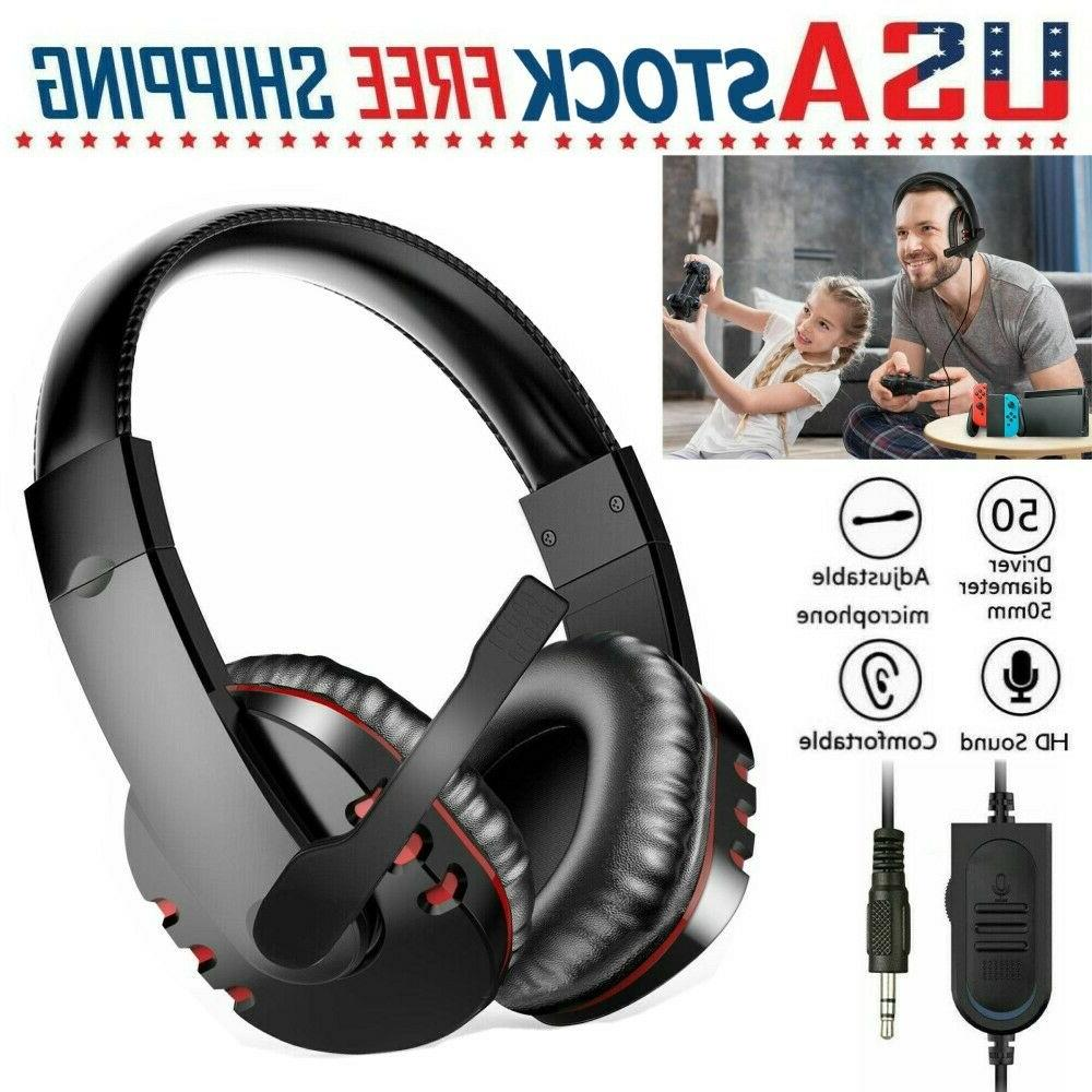 gaming headset with mic stereo gamer bass