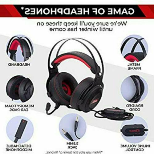 Gaming Headset Microphone Premium 3D HD Stereo Sound Video