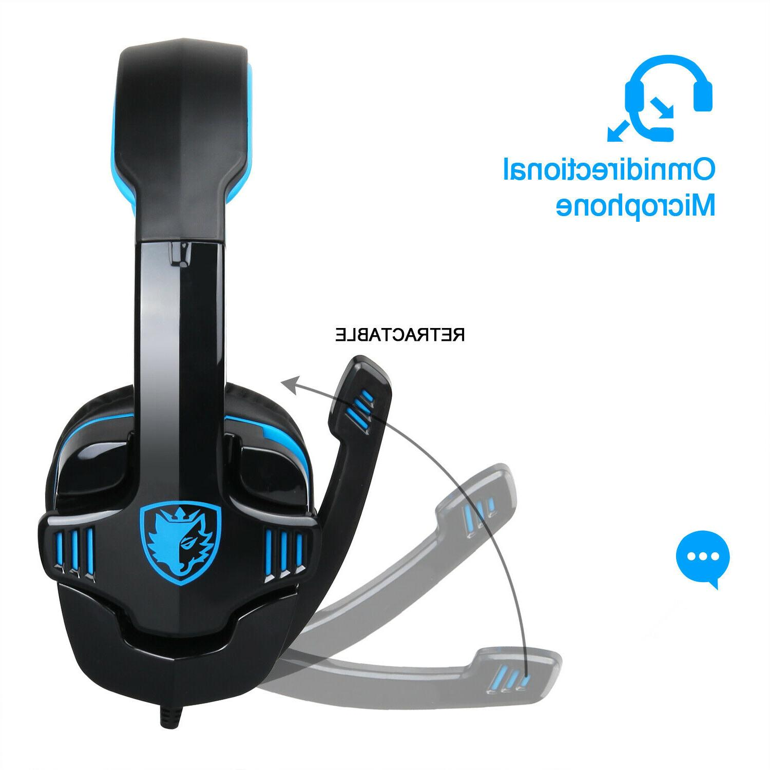 SADES Gaming Headphone Mic For PS4 PS3 Laptop