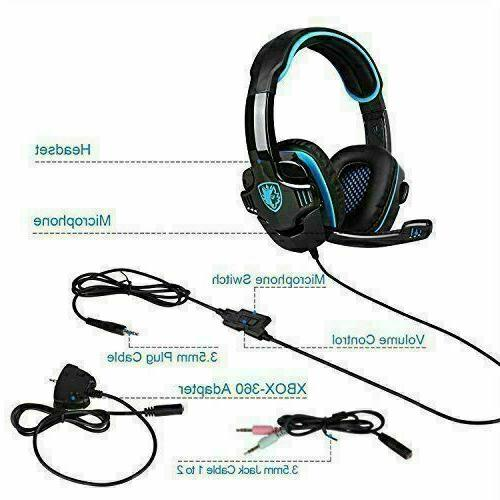 SADES Gaming Headphone For PS4 PC Laptop