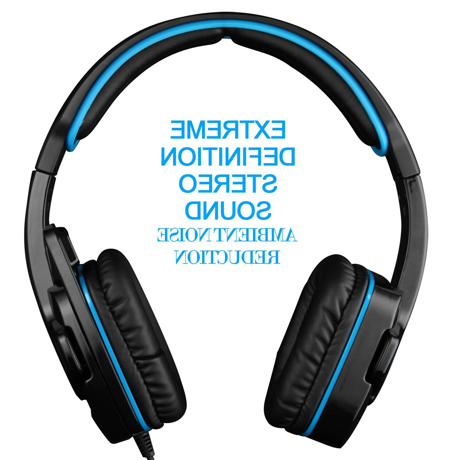 SADES Gaming Hi-Fi Headphone 3.5mm With For PS3 PC Laptop