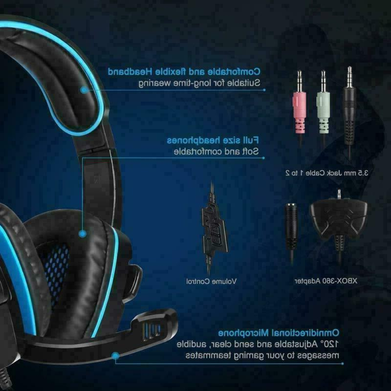 Headphone With For PS4 PS3 Laptop xbox