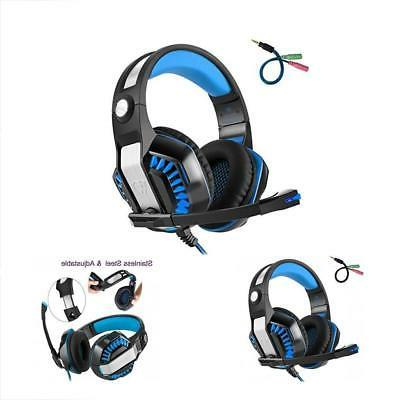 Beexcellent GM-2 Pro Gaming Over-Ear Headset with Mic LED Lights and Volume
