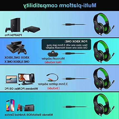 Karvipark H-10 Gaming Headset for Xbox Cancelling,Bass Surround Sound,Over Stereo Mic Chat
