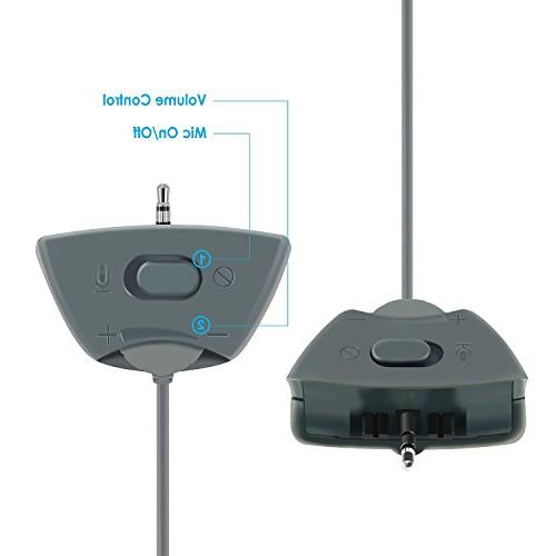 Insten Headphone with Mic Compatible Xbox 360 Wireless Controller,