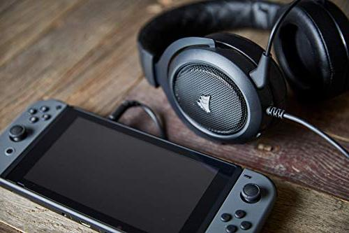 CORSAIR Gaming Headset Certified with One, PS4, iOS Android Carbon