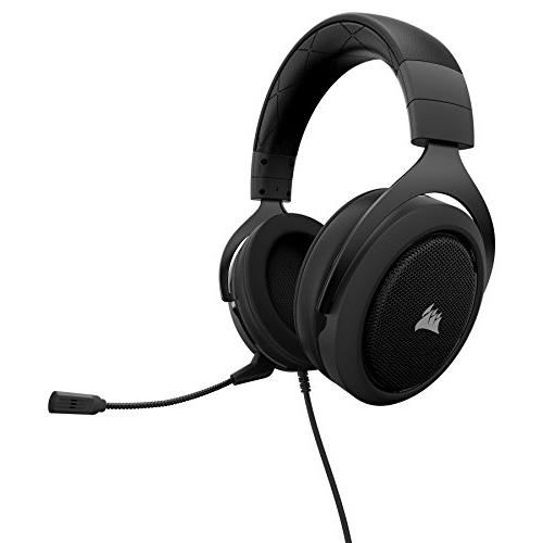 CORSAIR HS50 Gaming Certified Headphones - with PC, Mac, One, iOS Android Carbon