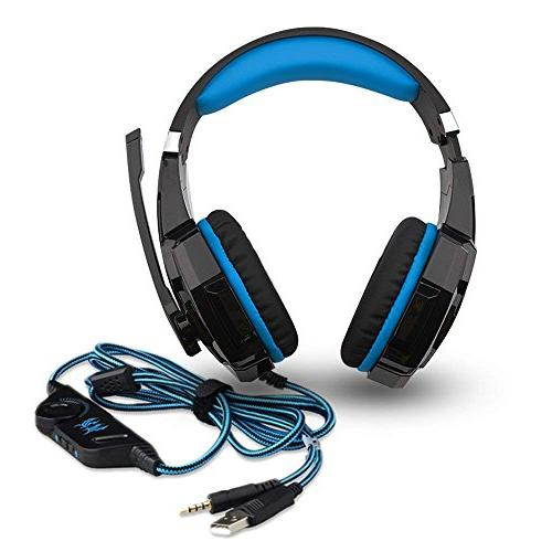 Hunterspider for PS4, with Noise Over Ear LED Memory Earmuffs Mac iPad Computer Switch Games