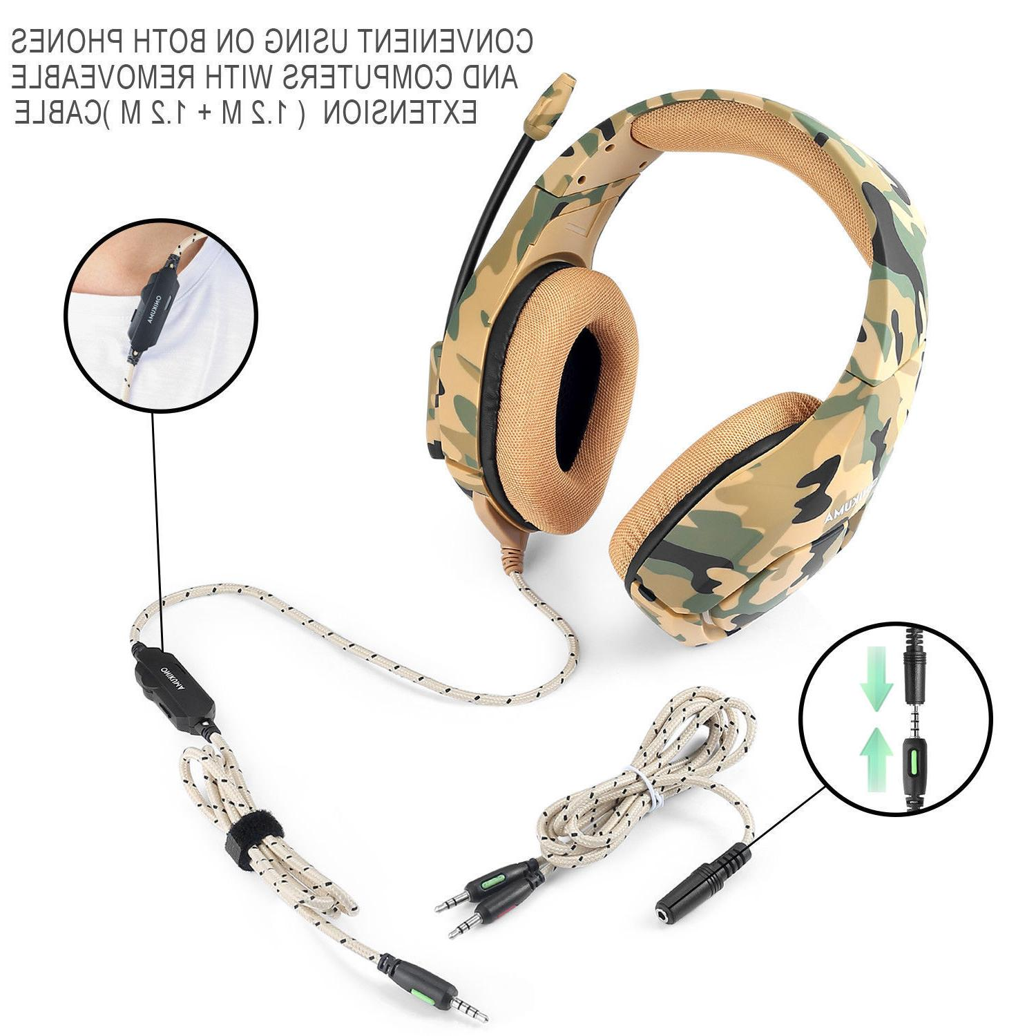 ONIKUMA K1 Gaming for New Mic Camouflage