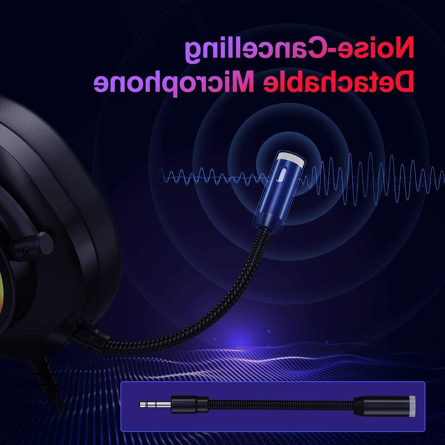Nivava K11 Headset for PS4, PC Microphone