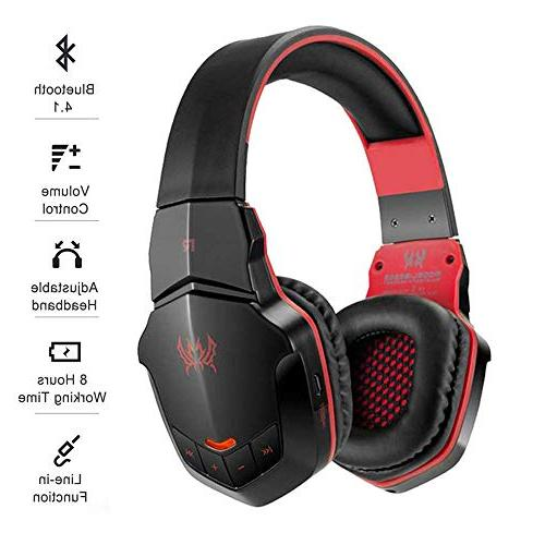 VapeOnly KOTION Each B3505 Wireless Bluetooth Gaming Headset with Plug Headphone Control Microphone iPhone/Ipad/Tablet PC