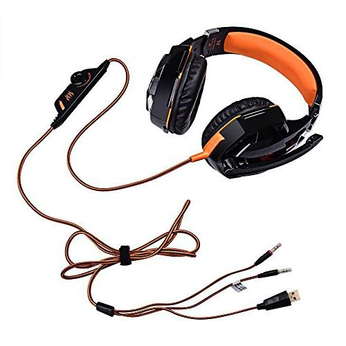 KOTION Each Headset 3.5mm Jack with Mic Stereo Cancelling Player