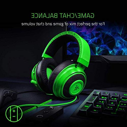 Razer Tournament THX Spatial Audio Full Audio Control Cooling Gel-Infused - with One, Switch, - Green