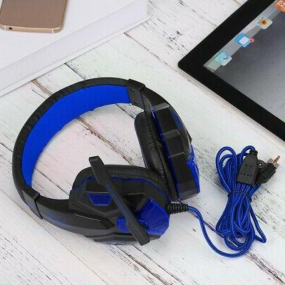 LED 3.5mm Gaming Headphones Stereo For Laptop