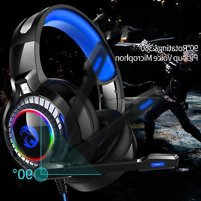 For PS4 Nintendo 3.5mm Gaming Headset Headphone