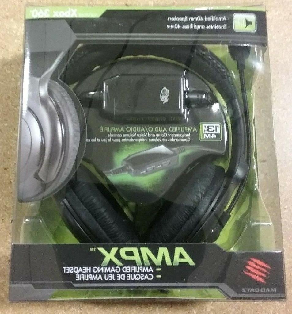 LOT OF 10 | Madcatz XBOX 360 AMPX Amplified Gaming Headsets