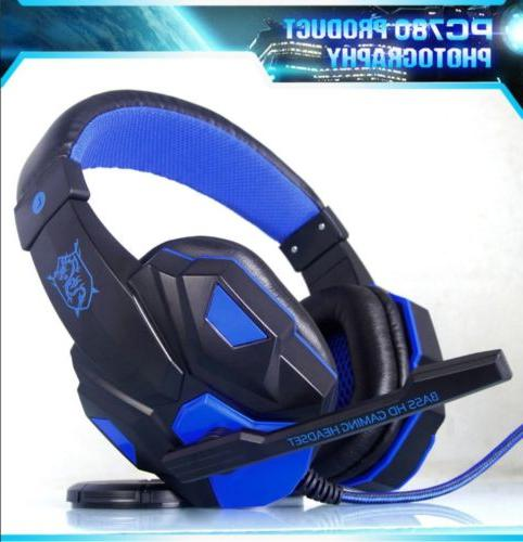 Noise-Canceling Headsets Surround Stereo PC780 USB Light