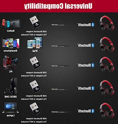 Noise Reduction Over Bluetooth Active Headphones, Deep Bass Stereo, Gaming Headset, Foldable, Earmuff, Mic and Wired for Phones/TV