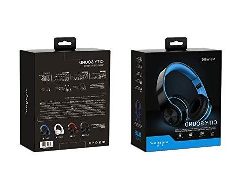 Noise Reduction Over Bluetooth Active Bass Gaming Headset, Foldable, Memory-Protein Earmuff, Wired for PC/Cell Phones/TV