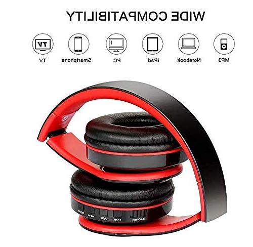Noise Reduction Bass Wireless Stereo, Gaming Headset, Foldable, Earmuff, Built-in Wired Mode, Phones/TV