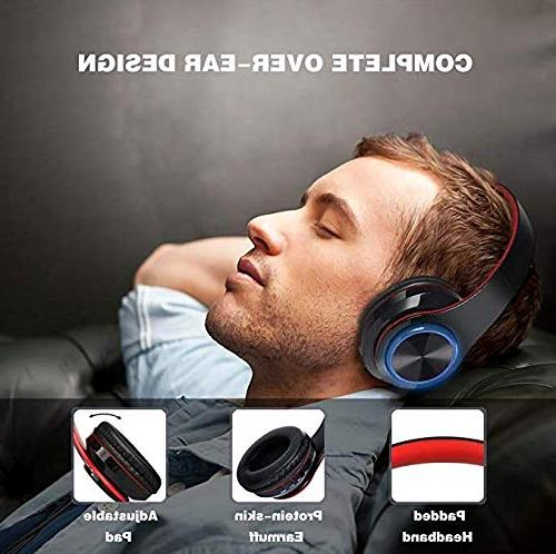 Noise Over Bluetooth Bass Wireless Advanced Gaming Earmuff, Built-in Mic Wired for Phones/TV