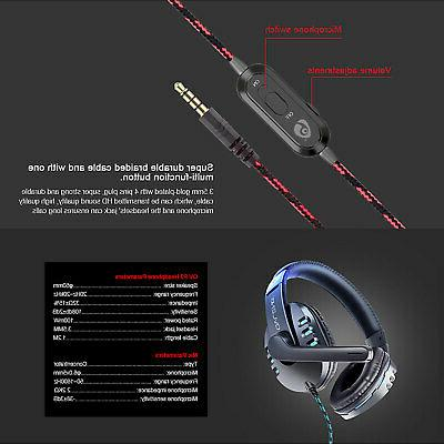 Over-ear Gaming Headset Headphone PS4/Nintendo One/Laptop