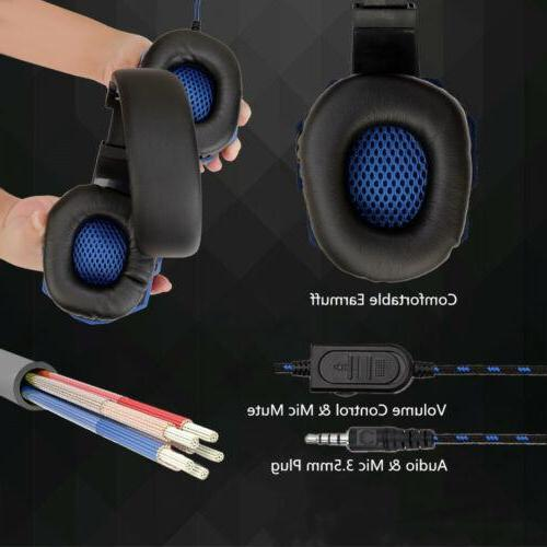 BEESCLOVER Potable <font><b>headset</b></font> Wired <font><b>Gaming</b></font> <font><b>Headset</b></font> Headphone for PS4 One Nintend Switch PC