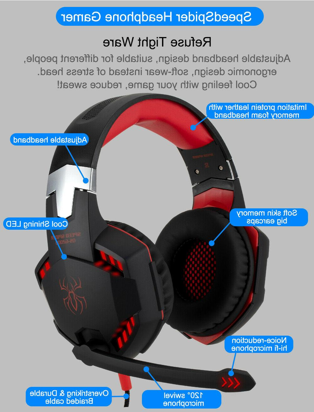 Pro W/ Mic One PS4 PS5 Headphones Microphone Bass