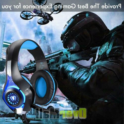 Pro Mic Gaming Headset Surround Headphone For