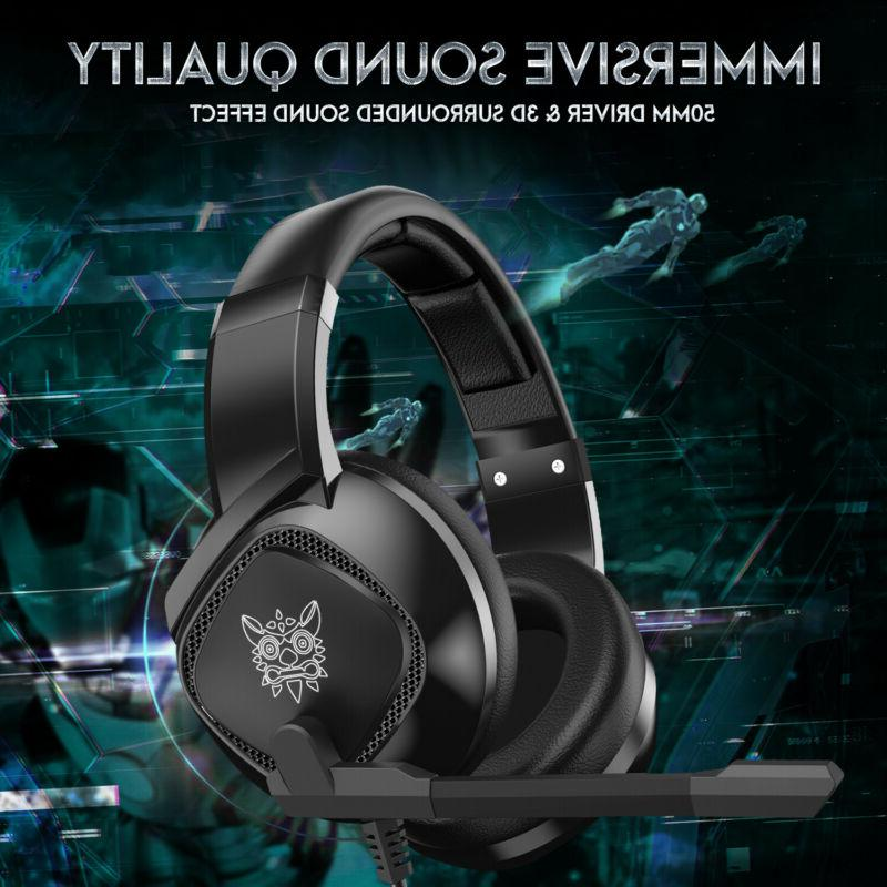 PS4 Gaming ONIKUMA K19 Stereo Over-Ear for Xbox PC
