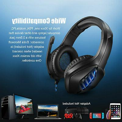 For Switch 3.5mm Headphones Mic LED Headset